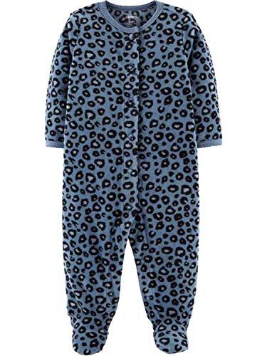 Carter's Infant Girls Blue Leopard Print Sleeper Footie Pajamas Sleep & Play NB