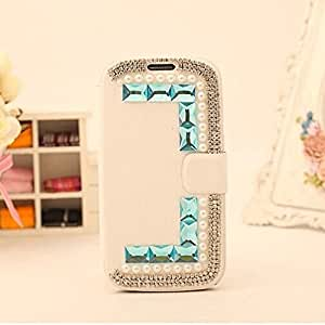 LC Bling Diamond Folio Leather Smart Case Cover With Card Holder for Nokia Lumia 1320