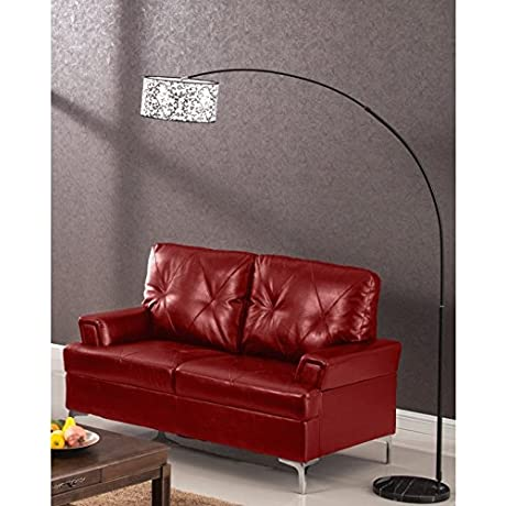 LYKE Home Alfonso Loveseat Red