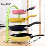 OKOKMALL US--New Kitchen Storage Rack Pot Frying Pan Organizer Cookware Shelves Holder Stand