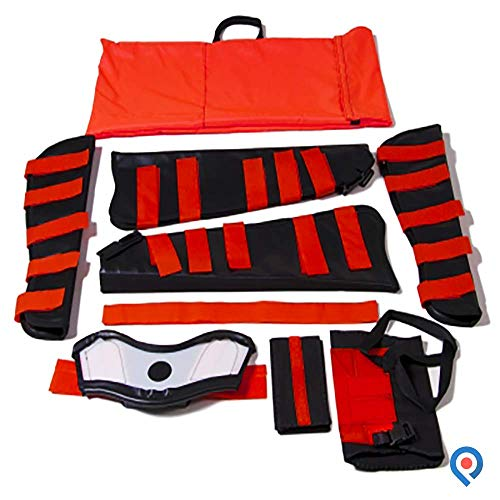 Pivit All-in-One EMT & Paramedic First Aid Medical Fracture Kit   2 Arm & Leg Splints, Arm/Shoulder Immobilizer & Extrication Collar   Added Bright Orange Emergency Responders Water-Proof Carry Bag