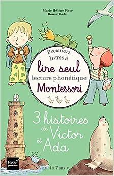 Coffret Premiers livres à lire seul - 3 histoires de Victor et Ada - niveau 3+ Pédagogie Montessori