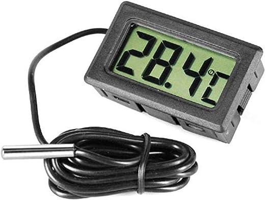 Withpal - Termómetro digital LCD, monitor de temperatura con sonda ...