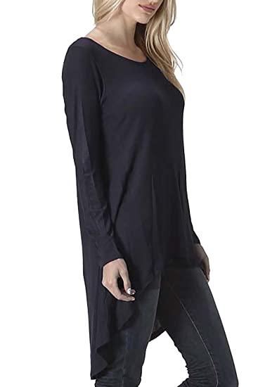 Vivicastle Women s V-Neck Low Cut Cleavage Wrap Cross Long Sleeve Shirt Top  (Small 31465cd2ce28