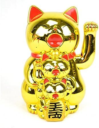 Maneki Neko Family dorado – gatos japonés deseos para la familia.: Amazon.es: Hogar
