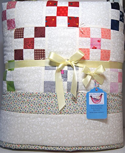 Multicolor Nine Patch Handmade Baby Quilt by Cozy Baby Quilts - Handmade Baby Quilts