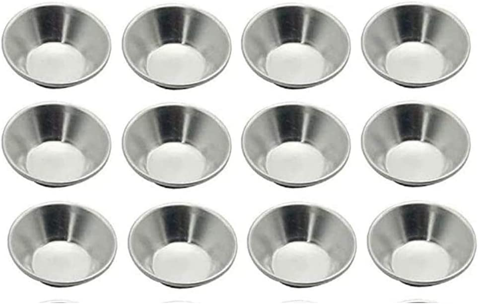 FVVMEED 12 Pieces Egg Tart Mould Mini Tartlets Pans Muffin Cake Dessert Mold Tiny Pie Bakeware Muffin Baking Puto Cups Cupcake Cookie Round Resuable Upgrade Nonstick Aluminum Alloy Tin Baking Tool