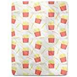 French Fries Fitted Sheet: Queen Luxury Microfiber, Soft, Breathable