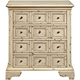 Pulaski DS-P017031 Distressed Apothecary Drawer Chest, Antique White
