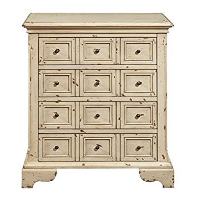 Pulaski Distressed Apothecary Drawer Chest, Antique White - Apothecary inspired Styling Four drawers Drawers: 1825 L x 975 W x 35 H - dressers-bedroom-furniture, bedroom-furniture, bedroom - 51freZzW0BL. SS400  -