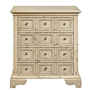 pulaski ds p017031 distressed apothecary drawer chest antique white antique pulaski apothecary style
