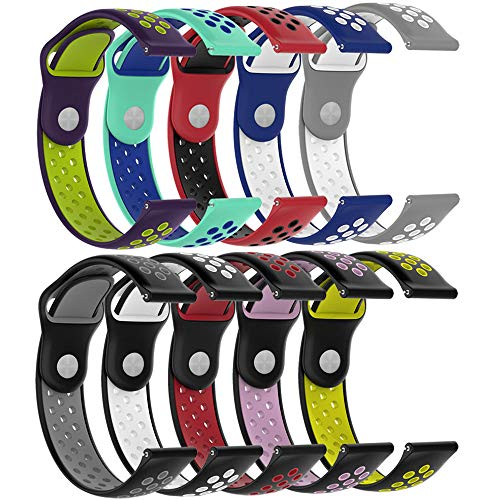 ZSZCXD Compatible for Galaxy Watch 46mm Band, 22mm Width New Soft Silicone Replacement WatchBand Strap Wristband for Samsung Galaxy Watch (46mm) SM-R800 Smart Watch (10Pcs, 5.5-8.1)