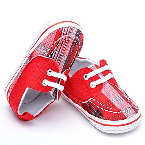 Bebé Niños 'plaid lienzo zapatos, color rojo, talla 12-18 meses Red