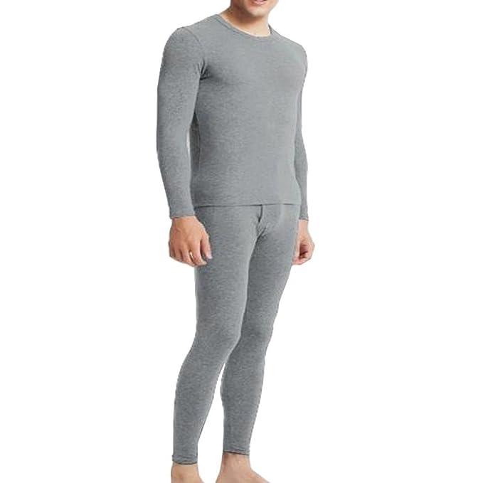 Camisas de Hombres,Dragon868 Moda de Manga Larga Traje Pijama con Pantalones Ropa de Dormir