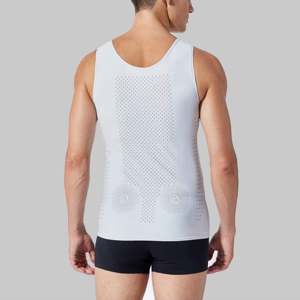 Herren Gewichtsverlust Weste Kompression Shirt Sauna Schwitzanzug K/örperformer Abnehmen Bauch Slimming Shapewear Waist Trainer T-Shirt,Grau,3XL