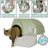 GSMV Self Cleaning Cat Litter Box Regular Roll Kitty Pewter Scoop Automatic