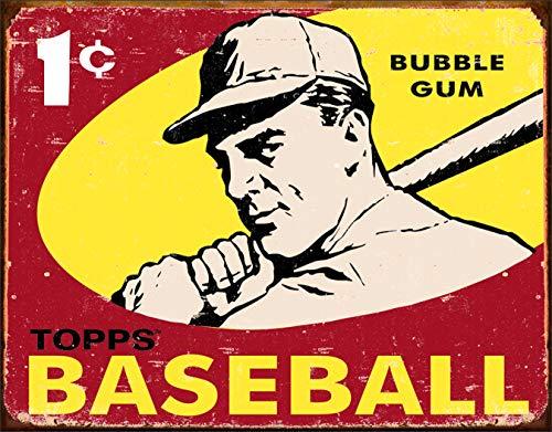 Desperate Enterprises Topps 1959 Baseball Tin Sign, 16
