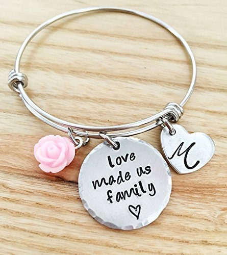 Blended Family Gifts, Daughter in law bracelet, Daughter Wedding gift, Stepdaughter Bracelet