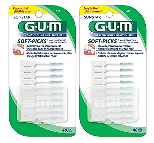 GUM Soft-Picks - 40 ct - 2 pk