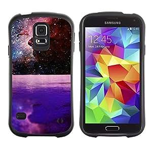 Hybrid Anti-Shock Bumper Case for Samsung Galaxy S5 / Beautiful Galaxy Space Planet