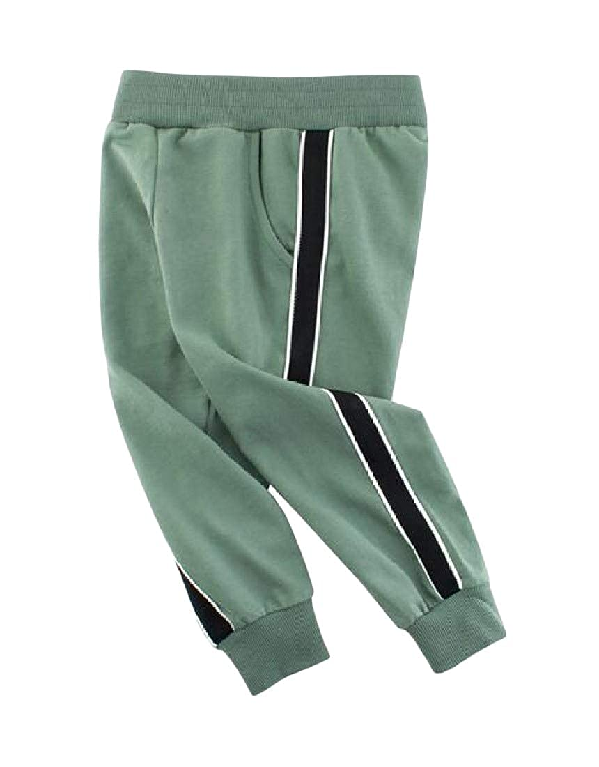 Etecredpow Childrens Active Pull On Casual Sweatpants Elastic-Waist Jogger Pants