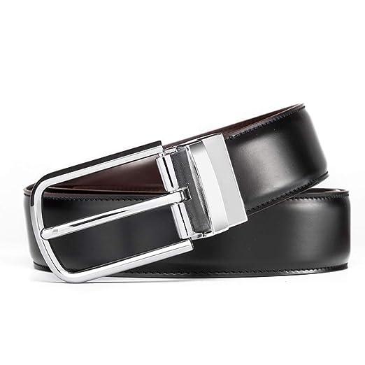 ZMK-720 Cinturón De Diseño Negro Y Marrón De Doble Cara para ...