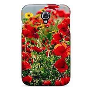 Premium Tpu Poppies Cover Skin For Galaxy S4