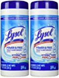 Lysol Power and Free Toilet and Bath Wipes, 35 Count (2 Pack)