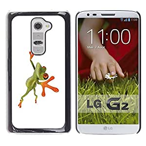 Be Good Phone Accessory // Dura Cáscara cubierta Protectora Caso Carcasa Funda de Protección para LG G2 D800 D802 D802TA D803 VS980 LS980 // Orange Jungle Frog