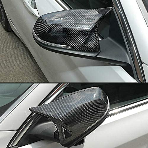 GaofeiLTF Carbon Fiber Mirror Cap Covers Fits for BMW F20 F22 F23 F30 F31 F32 F33 F36 F87 M2 X1 E84 Direct Replacement