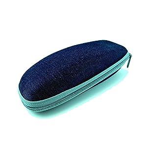 New Levi's Denim Zippered Clamshell Eyeglasses / Sunglasses Case - Denim Blue