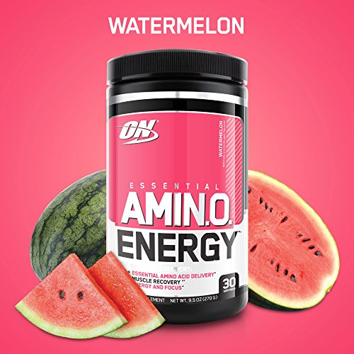 OPTIMUM NUTRITION ESSENTIAL AMINO ENERGY, Watermelon, Preworkout and Essential Amino Acids with Green Tea and Green Coffee Extract, 30 Servings