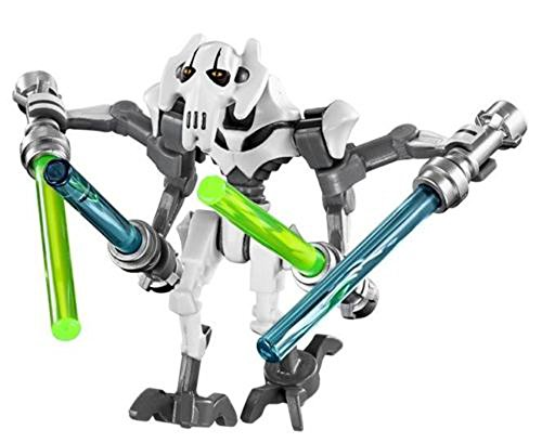 - LEGO STAR WARS MINIFIGURE GENERAL GRIEVOUS WHITE CLONE WARS 4 LIGHTSABERS