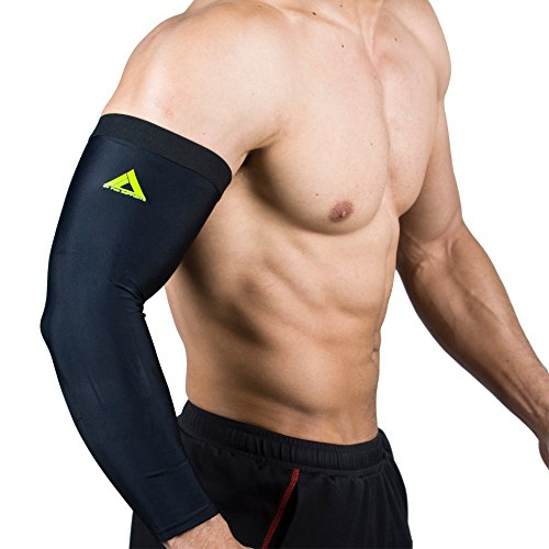 My Pro Supports Arm Compression Sleeves PAIR (Black Sleeve, Large)