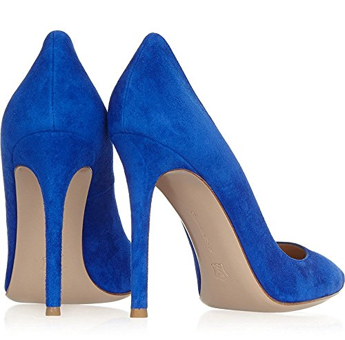 Stiletto Korkokenkiä Suede Teräväkärkiset Pumput Taivas Blue Nansay Kengät Korkokengät Naisten Suurikokoinen Kiinteä f5Rx11wqO