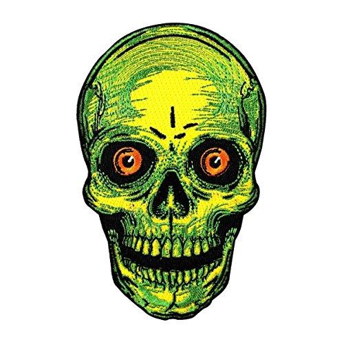 Creepy Skull Face Patch Kreepsville Scary Halloween Craft...