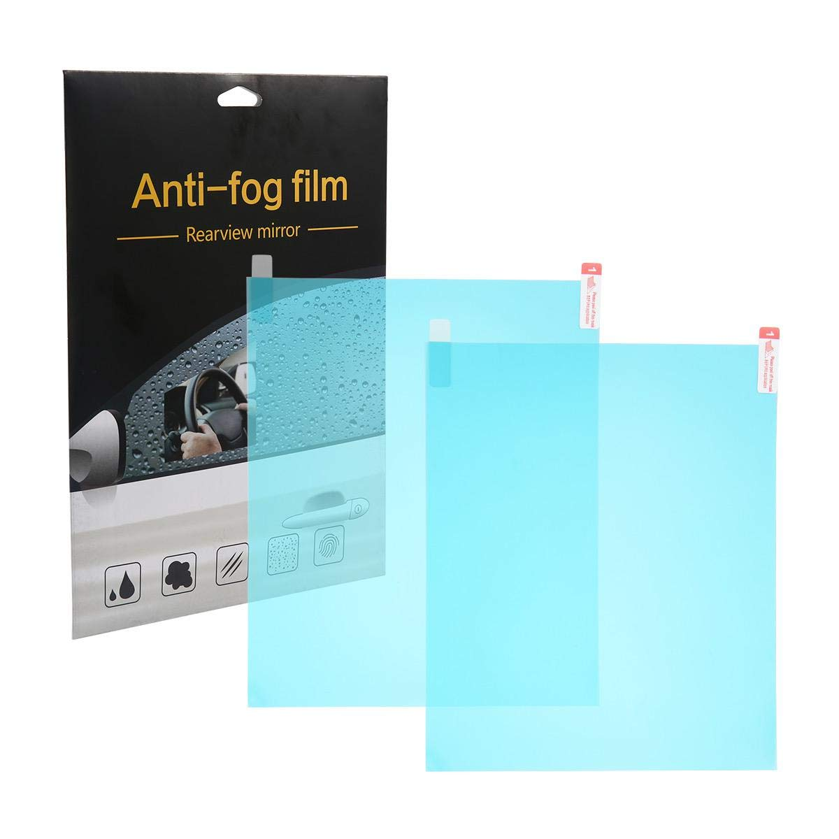 Universal Automotive Exterior Mirrors Rainproof Waterproof Film, Car Rearview Mirror Anti Fog Protective Film Car Side Mirror Window Anti-Glare Anti-Scratch Screen Protector 2 Pack Aolvo