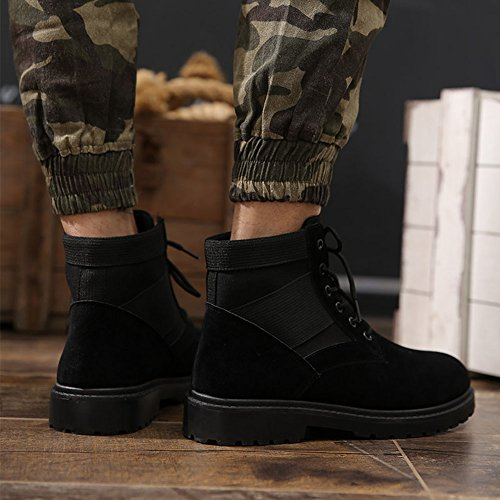 Men Boots Combat Patrol Boots - Army Tactical Worker Boots Ankle Outdoor Hiking Shoes Highdas Black r4DsU
