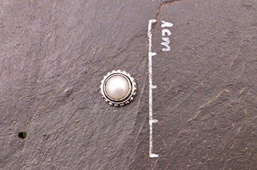 Boucles d'oreilles plaqué argent avec perle Ø 11 mm