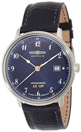 ZEPPELIN watch Hindenburg navy dial Date 7046-3 Men's [regular imported goods]