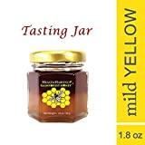 Tualang Yellow Honey 1.8 oz Tasting Jar | Mild Choice for Children Health Care & Development | Best Season Wild Harvested from Sumatra Tropical Rainforest | Raw, Unpasteurized, Unfiltered