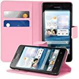 kwmobile Elegant synthetic leather case for the Huawei Ascend G520 / G525 with magnetic fastener and stand function in dark pink
