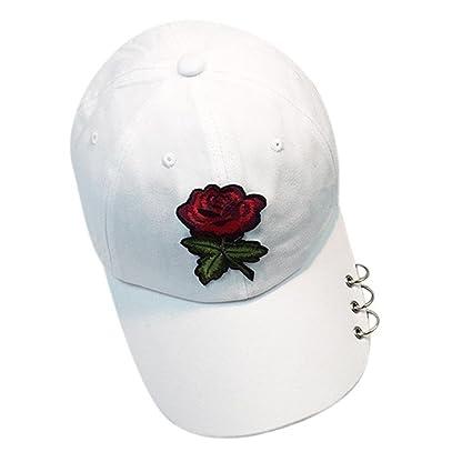 1f9c9235663e5 Amlaiworld Gorras Gorras Beisbol Verano de Malla Sombreros para Hombre Mujer  Rosa Sombrero Plano Hip Hop Snapback
