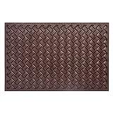 Mibao Durable Rubber Doormat, 24''x 36'' Low-Profile Waterproof, Non Slip, Easy Clean, Washable Indoor/Outdoor Mats for Entry, Patio, Bathroom