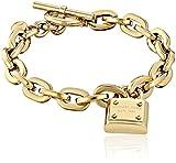 Michael Kors Gold Tone Toggle Link Bracelet
