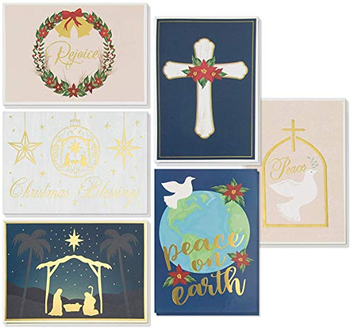 48-Pack Religious Christmas Cards - Holiday Greeting Cards
