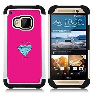 For HTC ONE M9 - engagement pink cartoon Dual Layer caso de Shell HUELGA Impacto pata de cabra con im??genes gr??ficas Steam - Funny Shop -