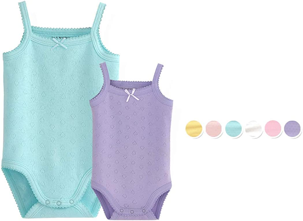 WINCR Eat Sleep Cook Repeat Newborn Unisex Baby Summer Sleeveless Bodysuit Onesies Clothes for Infant Boy Girl 0-24 Months