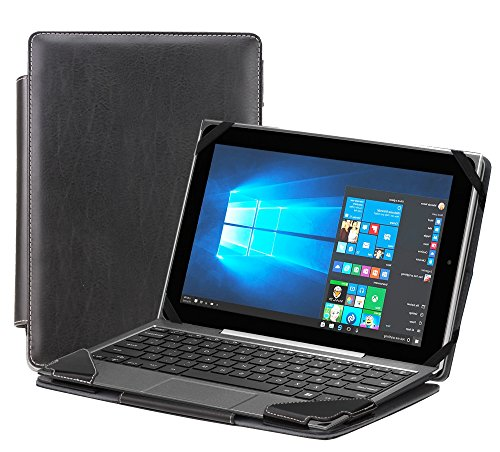 Navitech Black Faux Leather Detachable Folio Case Cover Sleeve For The Acer Switch One 10 SW1-011