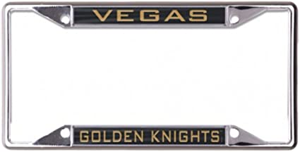 metal with inlaid acrylic 2 mount holes WinCraft Vegas Golden Knights License Plate Frame